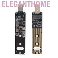 Eleganthome M.2 NVME SSD轉USB轉接板,ASHATA硬盤轉換器