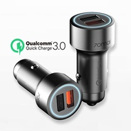 Original Xiaomi 70mai QC3.0 Quick Charge 2USB Port Car Charger 70 Mai Metal Case Dual USB For Android IOS IPhone Pad