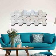 Hexagon Mirror Decoration Hexagon Cheap Wall Decoration Sticker Sticker Mirror Home