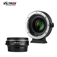 VILTROX EF-EOS M2 FOCAL REDUCER อะแดปเตอร์บูสเตอร์ Auto-Focus 0.71X สำหรับ Canon EF เลนส์ EOS M กล้อง M6 M3 M5 M10 M100 M50