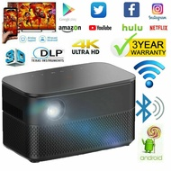 Mini WIFI Portable Projectors 9000 Lumens 1G+16G Android 6.0 4K DLP 3D Projector Android Wifi HD 1080P Cinema HDMI
