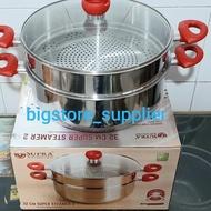 'is8 Supra Steamer 32cm / Steamer 2 Stacking Diameter 32cm Stainless