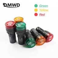1 PC ที่มีสีสัน AD16-22SM 12V 24V 110V 220V 22 มม.แฟลชไฟสัญญาณสีแดง LED Active buzzer Beep ALARM ไฟแสดงสถานะสีแดงสีเขียวสีเหลือง