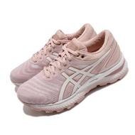 【asics 亞瑟士】慢跑鞋 Gel-Nimbus 22 寬楦 女鞋 亞瑟士 路跑 避震 高緩衝 亞瑟膠 粉 白(1012A586703)