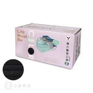 NAN LIU 南六 醫用口罩 (未滅菌) 醫療級 雙鋼印 平面 黑/紫色 50 片/盒 公司貨【立赫藥局】