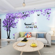 DIY Large Sweet Couple Photo Frame Mirror Wallpaper Tree Wall Stickers For Living Room TV Background  Home Decoration