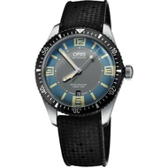 ORIS 豪利時 0173377074065-0742018 Aquis系列 日曆星期運動腕錶 / 藍面 40mm
