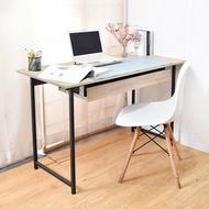 電腦桌/工作桌 木紋風105x55x75cm工作桌電腦桌+80cm抽屜組(原木/拼木)  凱堡家居