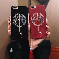 古典絨布刺繡OPPOr15手機殼女OPPOr17簡約潮款OPPOr11s