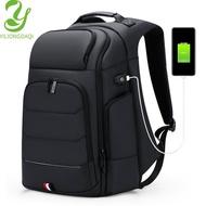 Yiliongdaqi มัลติฟังก์ชั่ธุรกิจแล็ปท็อปกระเป๋าเป้สะพายหลังผู้ชายเดินทางความจุขนาดใหญ่กระเป๋าเป้สะพายหลัง USB ชาร์จถุงกันน้ำ