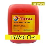 TOTAL RUBIA TIR 7400 15W40 CI4/SL (18LITERS) - DIESEL ENGINE OIL