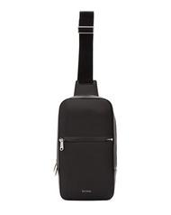 [全新真品代購-SALE!] Paul Smith 黑色皮革 單肩 背包 / 斜背包