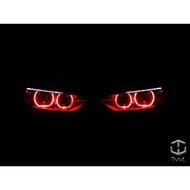 全新寶馬BMW F30 F31 12~15年原廠HID大燈專用LED紅光圈惡魔眼模組模塊