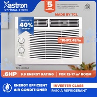 Astron Inverter Class .6 HP Aircon (window-type air conditioner   TCL-60MA   built-in air filter   anti-rust body   9.9 energy rating   white) (formerly Pensonic aircon)