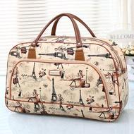 Girly Bags  กระเป๋าเดินทางใบเล็ก กระเป๋าเดินทางสะพายไหล่ กระเป๋าเดินทาง  travel bag ลายทาง รุ่น LT-006 (หลากสี)