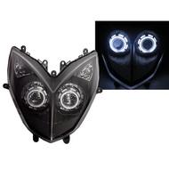 光陽 KYMCO 大燈組 燻黑(雷霆 RACING LFB6) CCFL 雙魚眼遠近大燈 鹵素(5500元)