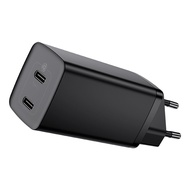 Baseus 65W GaN Lite Fast Charger Dual USB Port Charger Quick Charge 4.0 3.0 Type C PD Fast Phone Charger For iPhone12 12pro Max 12pro 12 mini For Mac Huawei Xiaomi Samsung Laptop Tablet ect