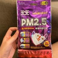 天天防護口罩 專業防霾口罩 PM2.5 紫色警戒專用 A級安全防護 成人口罩 立體口罩L (2入)