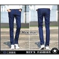【Men Star】免運費 韓版彈性牛仔褲 黑色緊身褲 藍色緊身褲 男 女 媲美 big train blueway