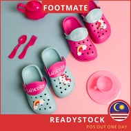 [Shop Malaysia] Footmate Crocs Shoes Girls Crocs Shoe Baby Crocs Sandal Kids Cros Sandal Crocs Budak Perempuan