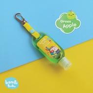 Bambi Bubu Official Shop แบบห้อยกระเป๋า เจลล้างมือแอลกอฮอล์สำหรับเด็ก กลิ่น Green Apple ขนาด 30ml