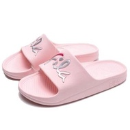【FILA】粉紅 銀 草寫LOGO 防水 拖鞋(4S326U551)