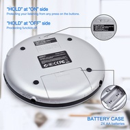 CD Player Portable,Walkman CD Player with Anti-Skip Protection Shockproof Function for CD, CD-R, CD-