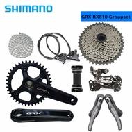 SHIMANO GRX RX810 170/172.5mm 40/42T Crankset Shifter Derailleur Cassette 1X11s Mechanical Road Bike