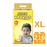 箱購-小淘氣透氣乾爽嬰幼兒紙尿褲XL(36片X6包)