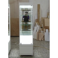 公仔櫃《全一木工坊》LED玻璃展示櫃、珠寶櫃、公仔玻璃櫃、精品櫃、手機櫃、飾品櫃、展示櫃、眼鏡櫃、模型櫃, 輪子款