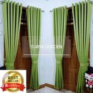 gorden jendela / gorden pintu / Gorden Blackout Polos premium / Gordyn jendela minimalis dan pintu / Korden / Horden / Warna [HIJAU]