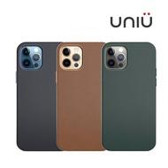UNIU iPhone 12 系列 CUERO 全包皮革保護殼