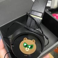 熊大/耳機/頭罩式/全罩/音源線/喇叭/9成新