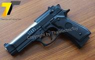 ปืนอัดลมทรง บาร์เร็ตต้า (ขนาดเล็ก) ชักยิงทีละนัด สไลน์เป็นเหล็ก ลำกล้องทำสีโครเมียม ท่อนล่างเป็นพลาสติก