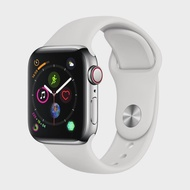 APPLE Watch Series 4 GPS+Cellular (40mm, Stainless Steel Case, White Sport Band)