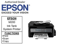 [Singapore warranty]  Epson M200 EcoTank  (Free $20 NTUC voucher till 30/08/2020 , Online REDEMPTION by 14/09/2020) (MONO) Print,Scan &Copy with ADF) Printer   m200  m 200 m200