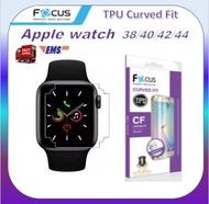 ฟิล์มกันรอย ลงโค้ง เว้นมุม โฟกัส Focus Apple Watch TPU Film curved fit Series 6 / SE / 5 / 4 / 3 / 2 / 1  Nike Plus พร้อมส่ง