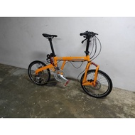 10.10 sales !! rhine 20 inch folding full suspension racing hybrid gravel bike foldie foldable birdy like style