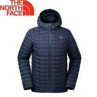 【The North Face 美國 男款 ThermoBall 保暖兜帽外套《深藍》】3666/暖魔球/輕便打包/可套接