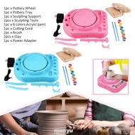 Craft Electric Birthday Gift Beginners Forming DIY Clay Imaginative With Paints Pottery Wheel Kit