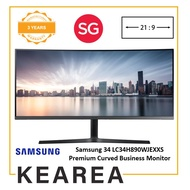 Samsung 34 LC34H890WJEXXS Premium Curved Business Monitor with Perfect Multi-tasking & Viewing Comfort (3 year onsite warranty)