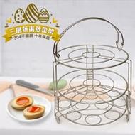 304不鏽鋼三層蒸蛋蒸菜架組