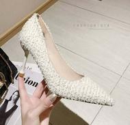 รองเท้าคัชชู รองเท้าส้นสูง รองเท้าทำงาน รองเท้าแฟชั่น รองเท้าหนัง รองเท้าสีขาว