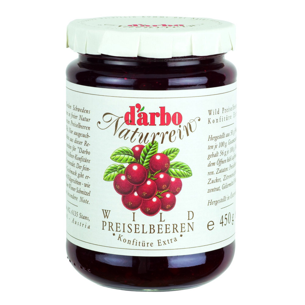 D'arbo 德寶天然蔓越莓果醬 D'arbo All Natural Preserves in 450 g (16 oz) Jar-Lingonberry 450gx1入