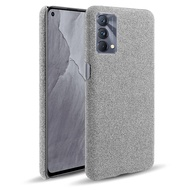 Realme GT 大師版 皮革保護殼尼龍布紋素色背蓋日式簡約手機殼保護套手機套