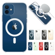 Apple Original Magnetic Coil Circle TPU Transparent Crystal Phone Case, Suitable for Apple IPhone 12 Mini 12 Pro Max IPhone11 11Pro X XR Silicone Case Magsafe