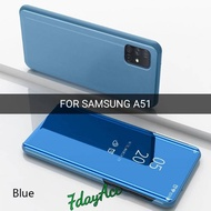SAMSUNG GALAXY A51 FLIP CASE MIRROR TRANSPARANT CLEAR SVIEW COVER