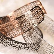 醫療級薄鋼手環- 富貴豐盛 寬版 男生款 銀玫瑰金黑 招財就業禮