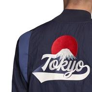ADIDAS VRCT TOKYO 深藍 東京限定 東京奧運 短版 棒球外套 防風外套 FI4030 DOT聚點
