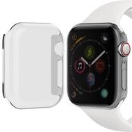 Crested ป้องกันหน้าจอที่ชัดเจนยิ้มกรณีสำหรับ Apple Watch ซีรีส์ 4 ชุด 5 44 มิลลิเมตร 40 มิลลิเมตรบางเฉียบทุกรอบเคสกับ buit ใน TPU ปกสำหรับนาฬิกาซีรีส์ 3/2 38 มิลลิเมตร 42 มิลลิเมตร